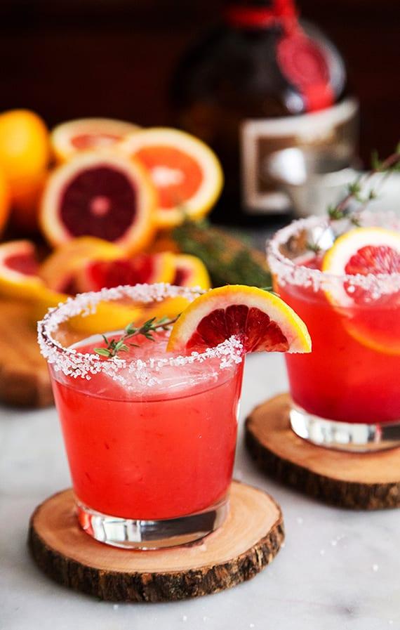 Rezept für Cocktail mit Tequila und Blutorange