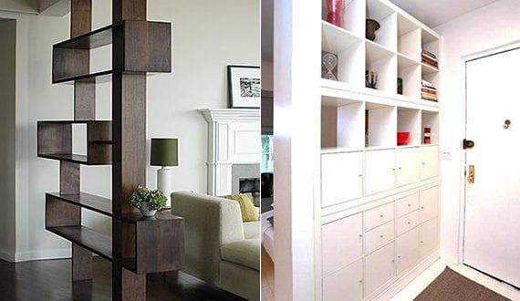 Kluge einrichtungsideen f r einzimmerwohnung mit regal for Einrichtungsideen einzimmerwohnung