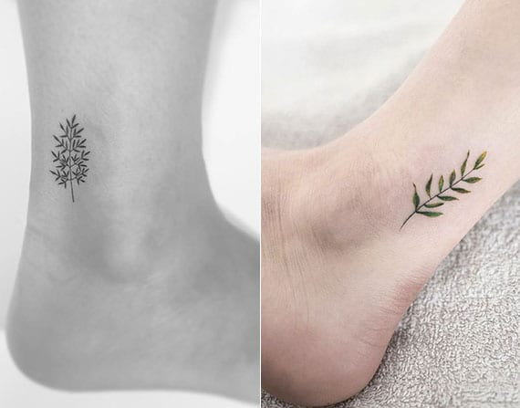 blumen tattoo motive f r kleine frauen fu tattoos freshouse. Black Bedroom Furniture Sets. Home Design Ideas