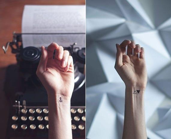 kreative tattoo ideen für handgelenk tattoos mit kleinem tattoo motiv