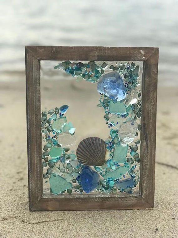 fantastische meer dekor ideen mit meerglas-mosaik auf glas