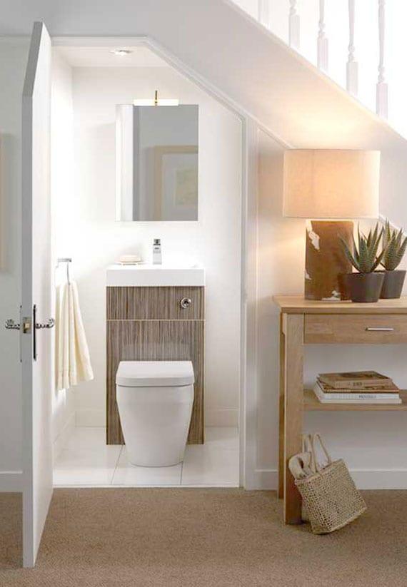 coole idee für kleines gäste wc mit moderne badeinrichtung aus platzsparenden badmöbeln