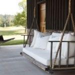 coole diy schaukel ideen für romantische und attraktive gestaltung einer terrasse oder veranda