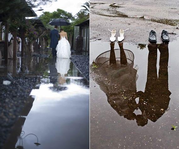 attraktive Wasser-Spiegelbild Ideen für coole Brautpaar Fotos und ein cooles Hochzeit Fotoalmub