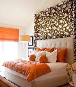 raumgestaltung-schlafzimmer-mit-akzentfarbe-orange-als ...