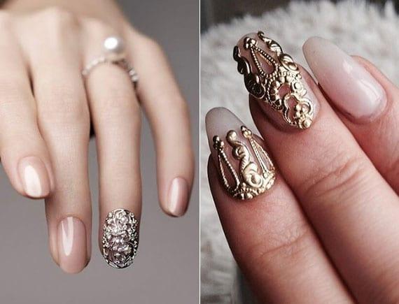 3D nagelsticker für attraktive hochzeit nagelart