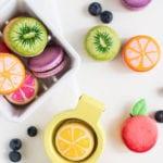 interessante bastelidee für diy früchte aus macarons
