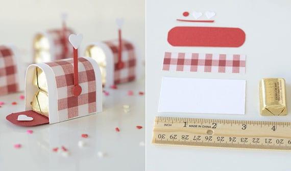 tolle bastelideen für süße diy pralinen-mailbox zu valentinstag