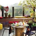 bunte herbstdekoideen für kleine balkons und terrassen