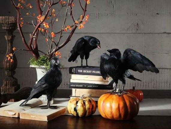 coole und einfache tisch- und sideboard dekoidee zu halloween