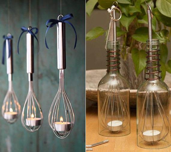 coole die scheebesen-teelichthalter für attraktive und romantische deko mit kerzenlicht