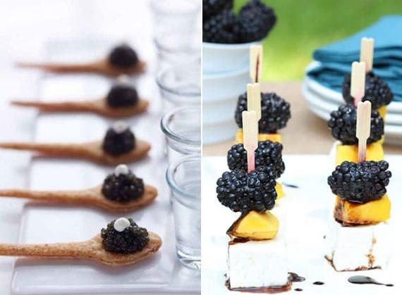 coole ideen für party essen und kreatives servieren von party-häppchen