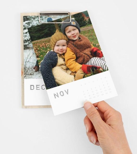 DIY Kalender mit Fotos als coole geschenkidee zu weihnachten