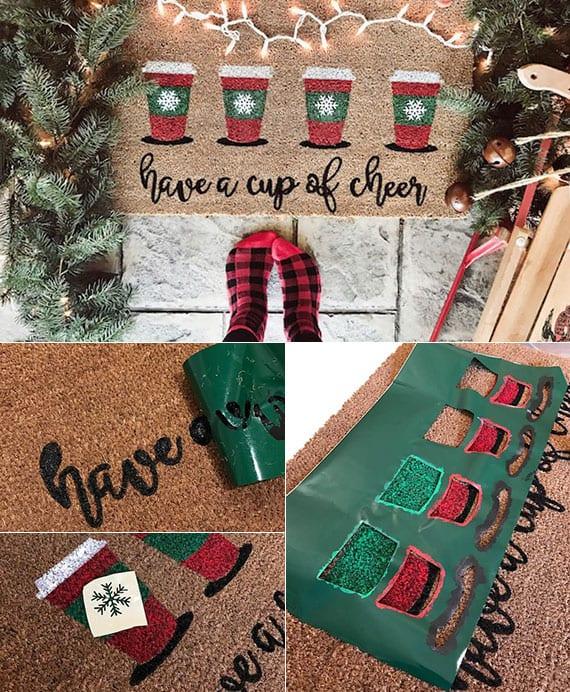 diy türmatte als coole dekoidee und originelle geschenkidee zu weihnachten