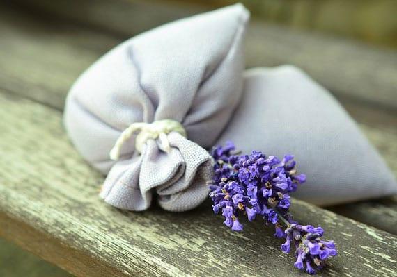 textilmotten vorbeugen mit lavendel säckchen im kleiderschrank