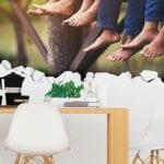 wände modern und attraktiv gestalten mit foto-aufkleber und lustigen wandstickern