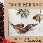 individuelle und originelle weihnachtskarten basteln_coole bastelideen und inspirationen für eine festliche selbstgemachte grüßkarte