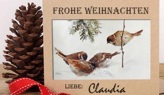 Die Weihnachtskarte, mit der Sie bestimmt viel Freude bringen werden
