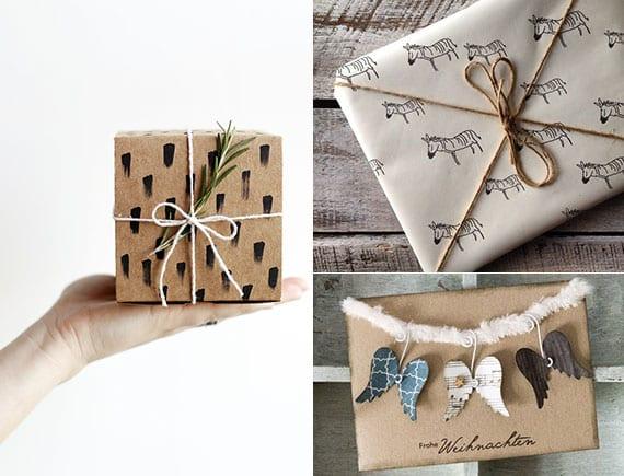 coole geschenkverpackung selber machen mit marker und diy stempel