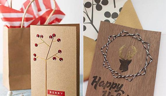 Edle Weihnachtskarten.Edle Weihnachtskarten Selber Machen Durch Nahen Tolle Ideen