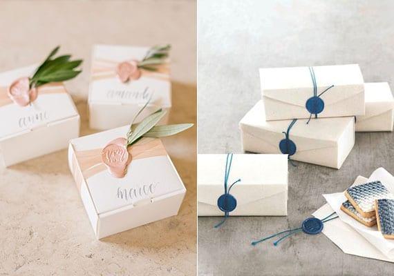 kreative verpackungsidee für geschenke mit wachs und petschaft