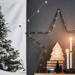 kreatives basteln und dekorieren zu weihnachten mit einem DIY weihnachtsbaum als tolle wanddeko im kleinen raum