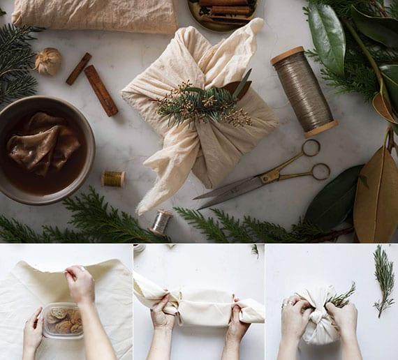 geschenk ohne geschenkpapier verpacken