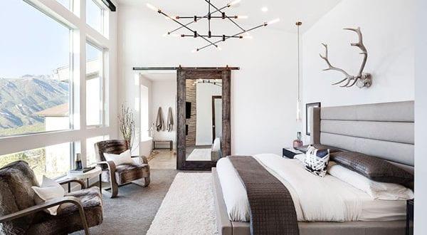 Moderne Schlafzimmer mit rustikalem Charme