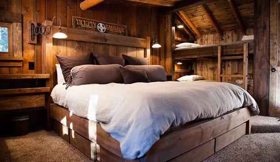 Massivholzmöbel-für-attraktive,-gemütliche-und-moderne-Schlafzimmer-mit-rustikalem-Charme