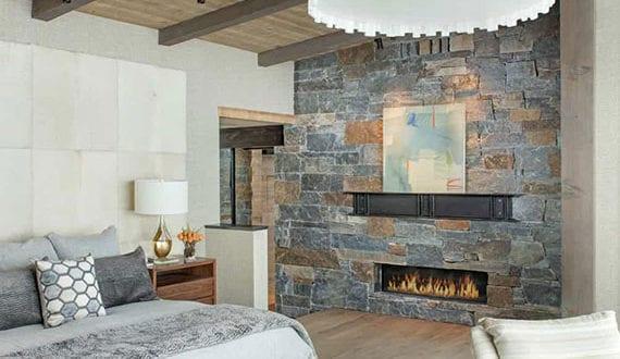 Moderne-Schlafzimmer-mit-rustikalem-Charme-dank-stilvoller-Einrichtung-mit-Holzmöbeln-und-natürlichen-Materialien