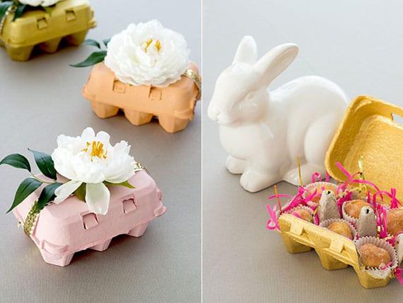 kleine ostergeschenke aus der küche in eierkarton kreativ verpacken