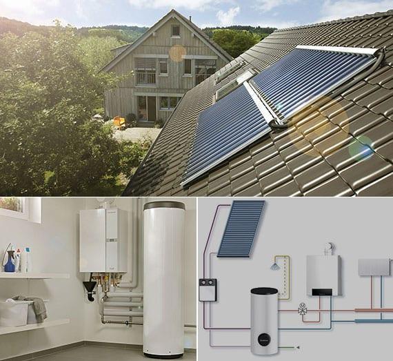 Heizen mit Gas-Brennwerttechnik und Solarunterstützung_eine hocheffiziente, umweltschonende und zukunftssichere Hybridheizung