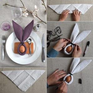 Tisch-eindecken-zu-Ostern-mit-lustigen-Osterhase-Servietten