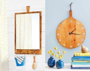 kreative-Wiederverwertung-alter-Holzschneidbretter-in-nützliche-und-attraktive-Wanddeko