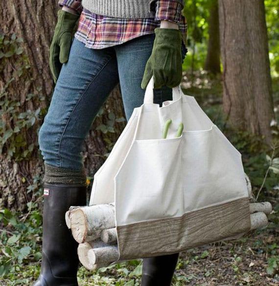 brennholztasche selber machen aus einfacher stofftasche