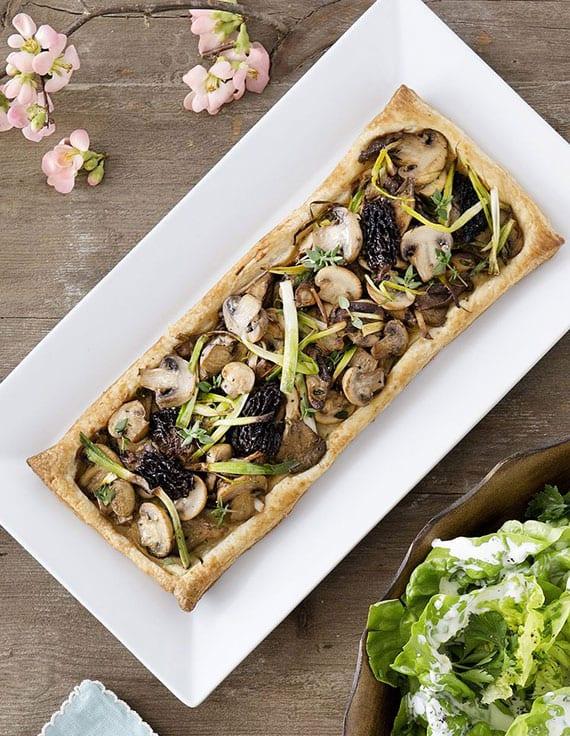 tarte mit lauch und champignons als idee für familienbrunch