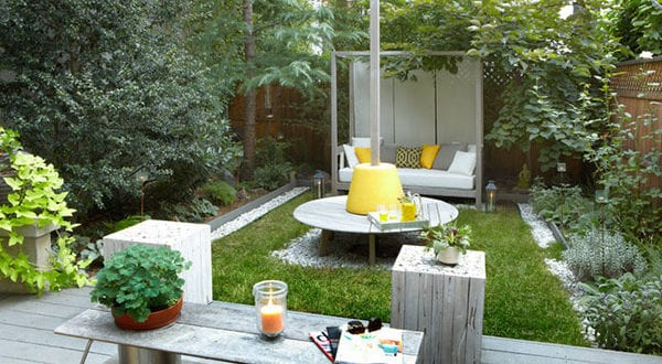 Den kleinen Hofgarten funktional und gemütlich gestalten