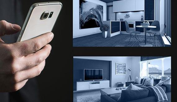 Haushaltsgeräte-beim-vernetzten-Smart-Home-über-das-Smartphone-oder-ein-Steuerungsmodul-bedienen
