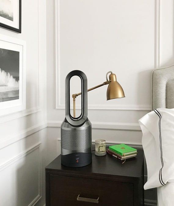 Luftqualität im Wohn- und Schlafzimmer verbessern mithilfe von einem kompakten und leisen luftreiniger mit modernem design