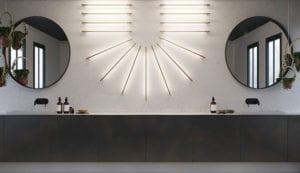 designer wandleuchten als attraktive wanddekoration und stimmungsvolle badbeleuchtung