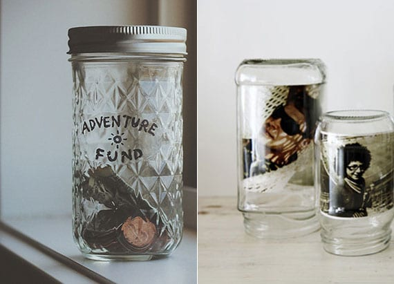bastelideen für DIY Sparbüchse und DIY Fotohalter mit weckglas als cooles diy geschenk