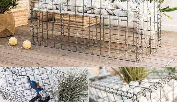 einfache-diy-projekte-für-garten-und-terrasse_gabione-kaffeetisch-mit-topfpflanze-selber-machen