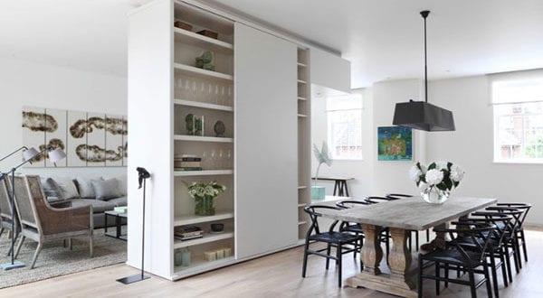 Raumteiler als großartige Ergänzung zur Einzimmerwohnung