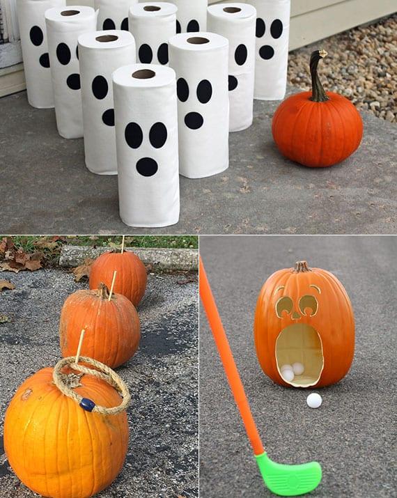 coole ideen für partyspiele mit kürbissen