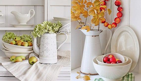 Vintage-Küchendeko-Ideen-mit-Äpfeln-und-Porzellangeschirr