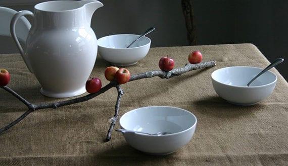 einfache-und-moderne-apfel-tischdeko