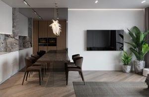 kreative-und-moderne-gestaltungsideen-für-TV-Wand-in-kleiner-wohnung-mit-koch--und-essbereich-im-wohnzimmer
