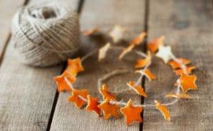 einfaches und kreatives basteln mit orangen zu weihnachten
