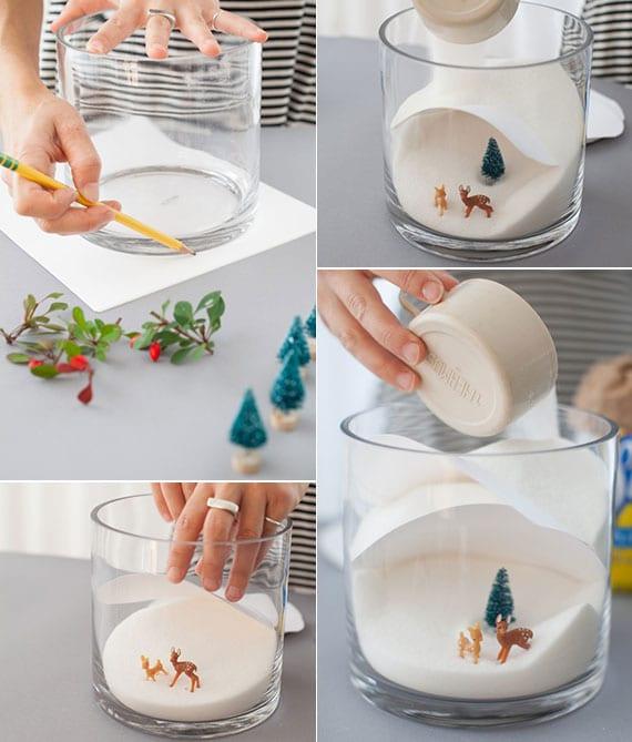 kreatives basteln im winter von toller Deko im Glas
