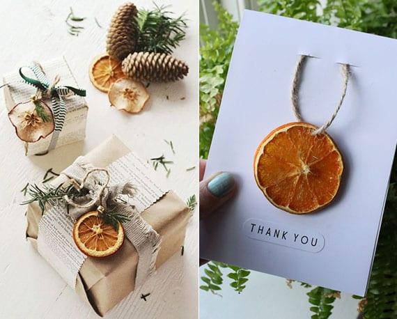 kreative ideen für attraktive geschenkverpackung mit naturmaterialien und diy weihnachtskarten